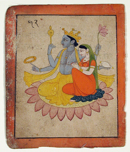 Vishnu with Lakshmi on a lotus | by thesandiegomuseumofartcollection