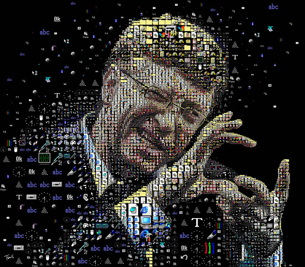 Bill gates the windows portrait a mosaic portrait of for Best windows in the world