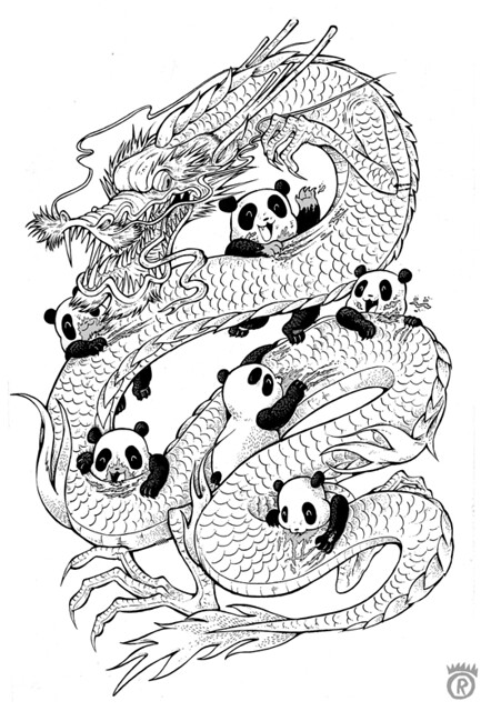 Year Of The Panda Outline Flickr Photo Sharing