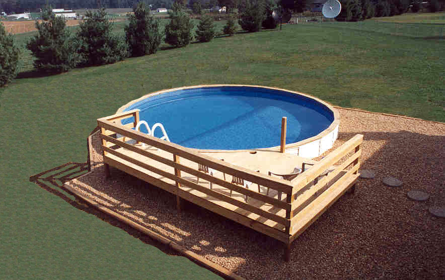 Medallion Pools St Croix Above Ground With Vinyl Siding Pa