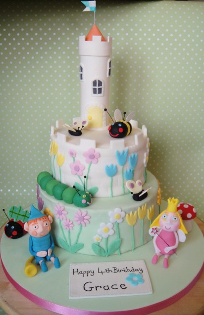 "Ben and Holly Cake | 2 tier cake, 8"" and 6"" cakes with ...
