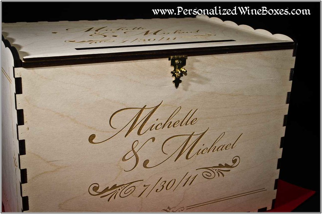 Wedding Money Gift Guidelines : Wedding CARD Box-0061 Visit our woodshop for more informat ...