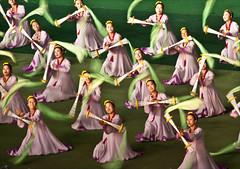north korea dancers in motion