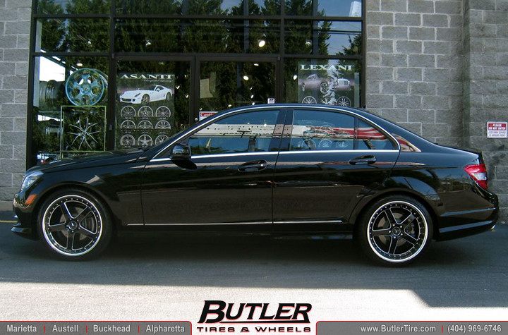 Mercedes c300 with 19in tsw carthage wheels additional for 2008 mercedes benz c300 tires