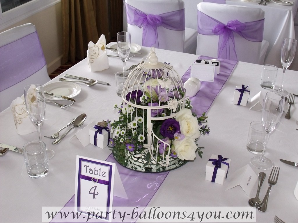 Purple Ideas For Weddings: Purple And White Wedding Decorations