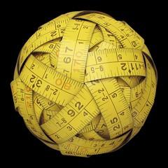 Measuring tape sphere