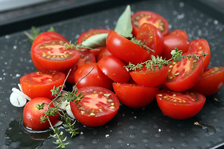 tomatoes for tomato basil pizza | by David Lebovitz