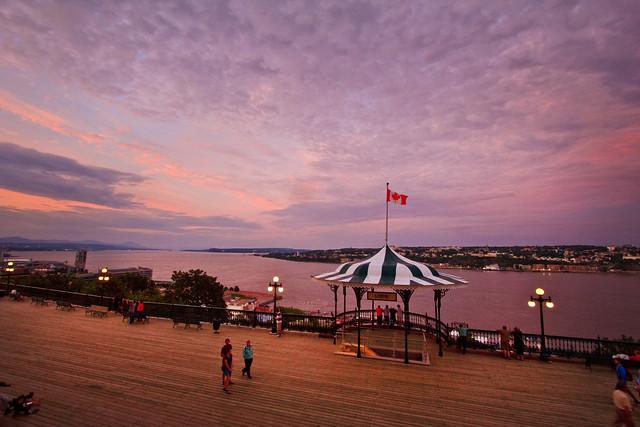Le crépuscule à Québec