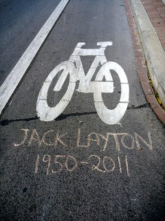 A Tribute To Jack Layton - College Street Bike Lane Toronto | by Martinho