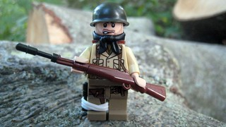 American Soldier with Anti-Tank Rifle | by The Brick Guy