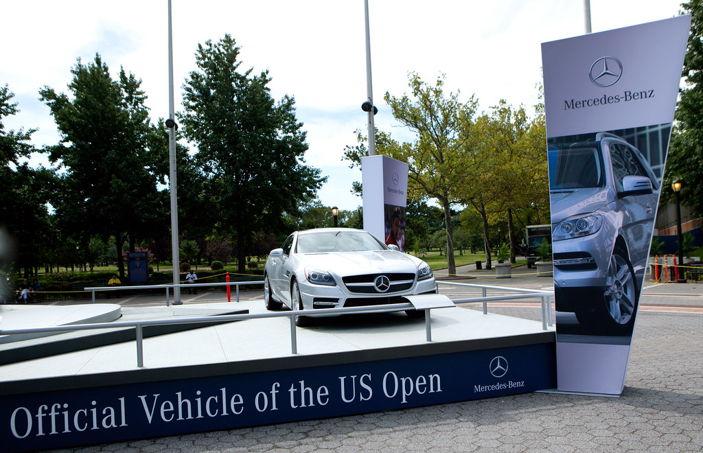 mercedes benz the official vehicle of the us open flickr