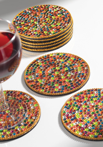 Fair Trade Products Rainbow Glass And Resin Coasters