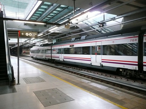Train at Malaga Airport Station | by jessespector