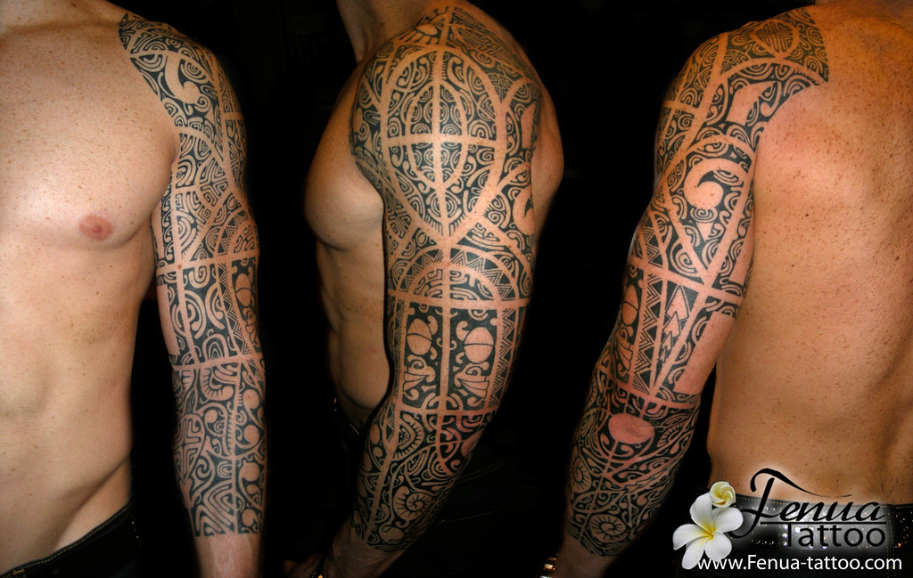 Tatouage Polynesien Du Bras Par Tahiti Tattoo Dans Le Var Flickr