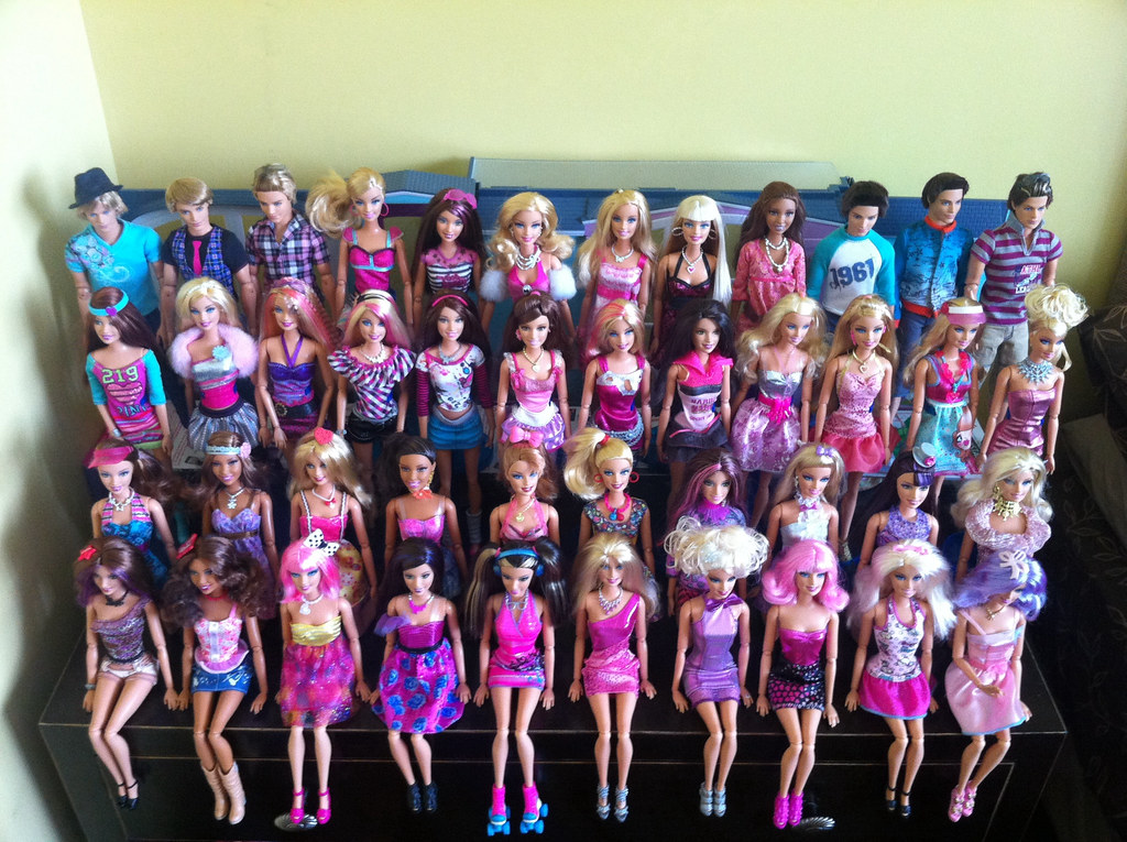 My Barbie Fashionistas as of Today...