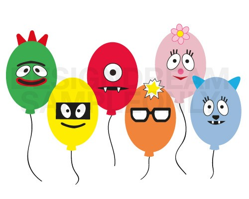 Yo Gabba Muno Foofa Brobee Toodee Plex Balloon Face Embell ...