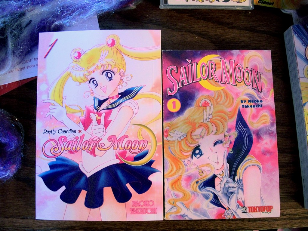 sailor moon manga kodanshatokyopop comparison volume 1