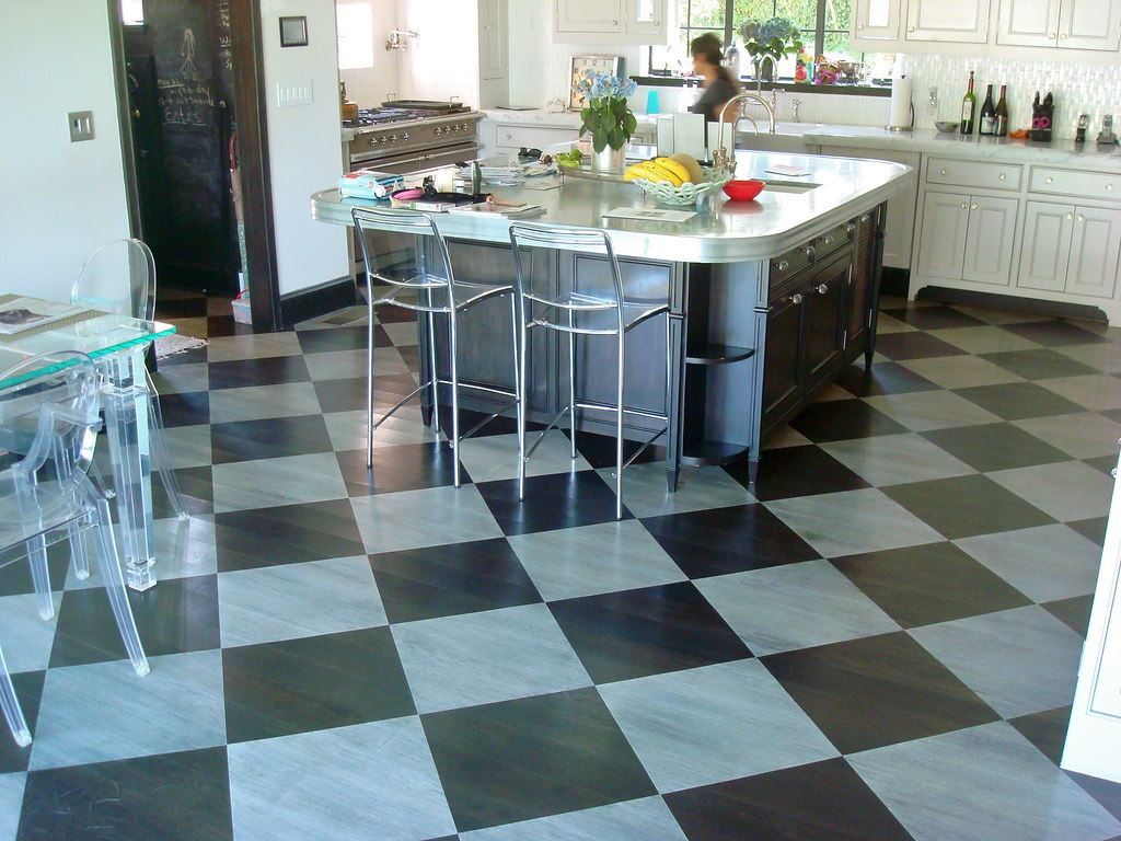 ... Checkered Kitchen Floor | By Kate Hoffman