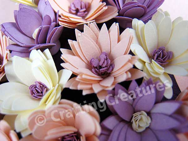 Paper Quilling Fringed Flowers Fringed Quilled Flowers For