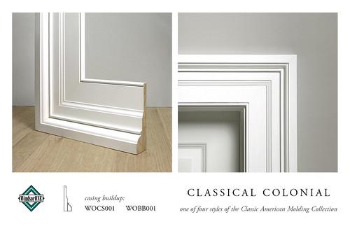 Classical colonial casing molding buildup casing buildup for Colonial trim molding