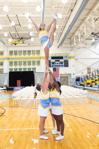 Cape cheerleaders warming up | by Schell Brothers