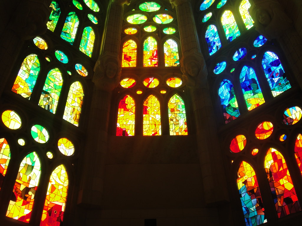 Gaudi Stained Glass