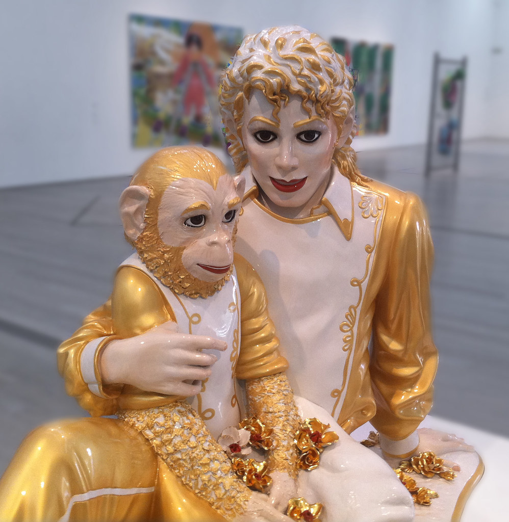 Michael Jackson Amp Bubbles The Chimp Ceramic Statue Of