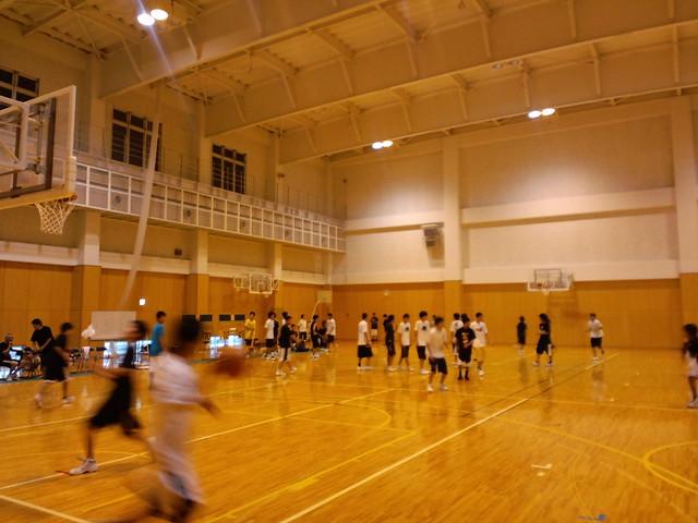 【24時間バスケ】 高校生・男子の部 開幕です。