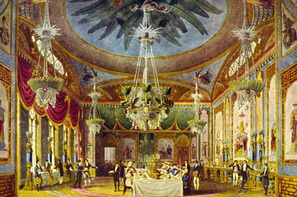 royal pavillion brighton dining room 2 | From a postcard pur… | Flickr