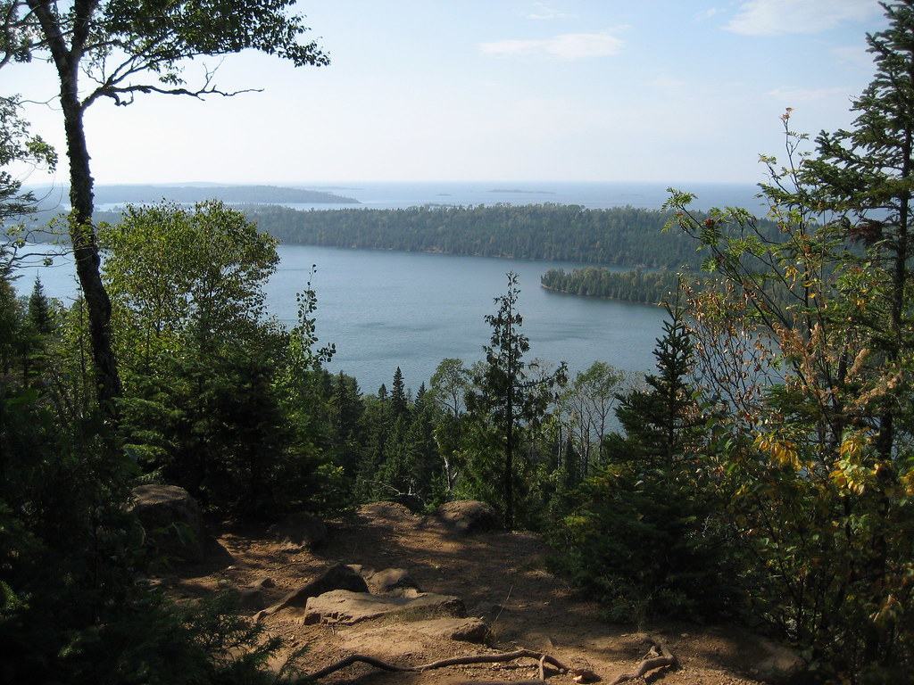 View from Lookout Louise, Isle Royale National Park, Rock ...
