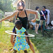 Hula Hooping Girl Backyard Graduation Barbecue July 17, 20117