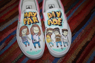 mayday parage custom painted shoes | by ROCCO THEGREAT