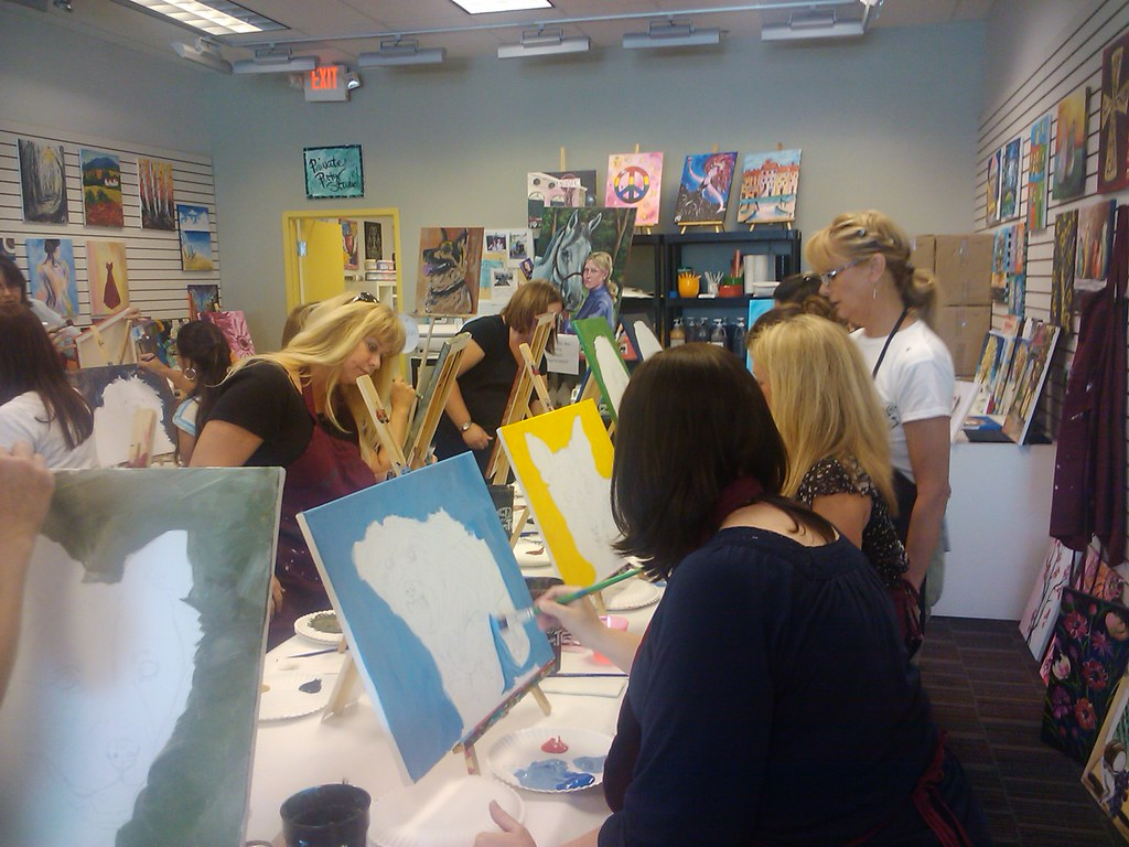 Paint Your Pet July 2011 Painting With A Twist Flower Mound Flickr