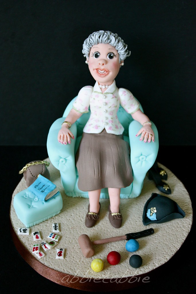 Topper for a 90th Birthday Cake This is one o Flickr