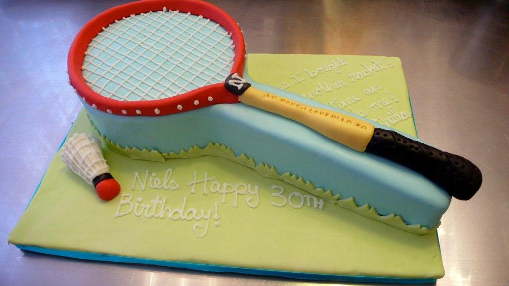 Badminton Racket Birthday Cake 2d Badminton Racket With