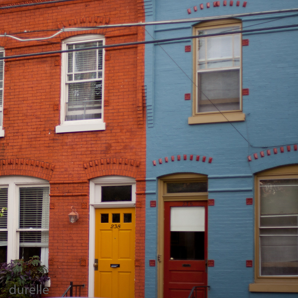 Red house blue house yellow door red door durelle flickr for Yellow and red house