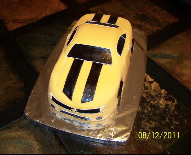 Transformers Bumblebee Cake Front Transformers