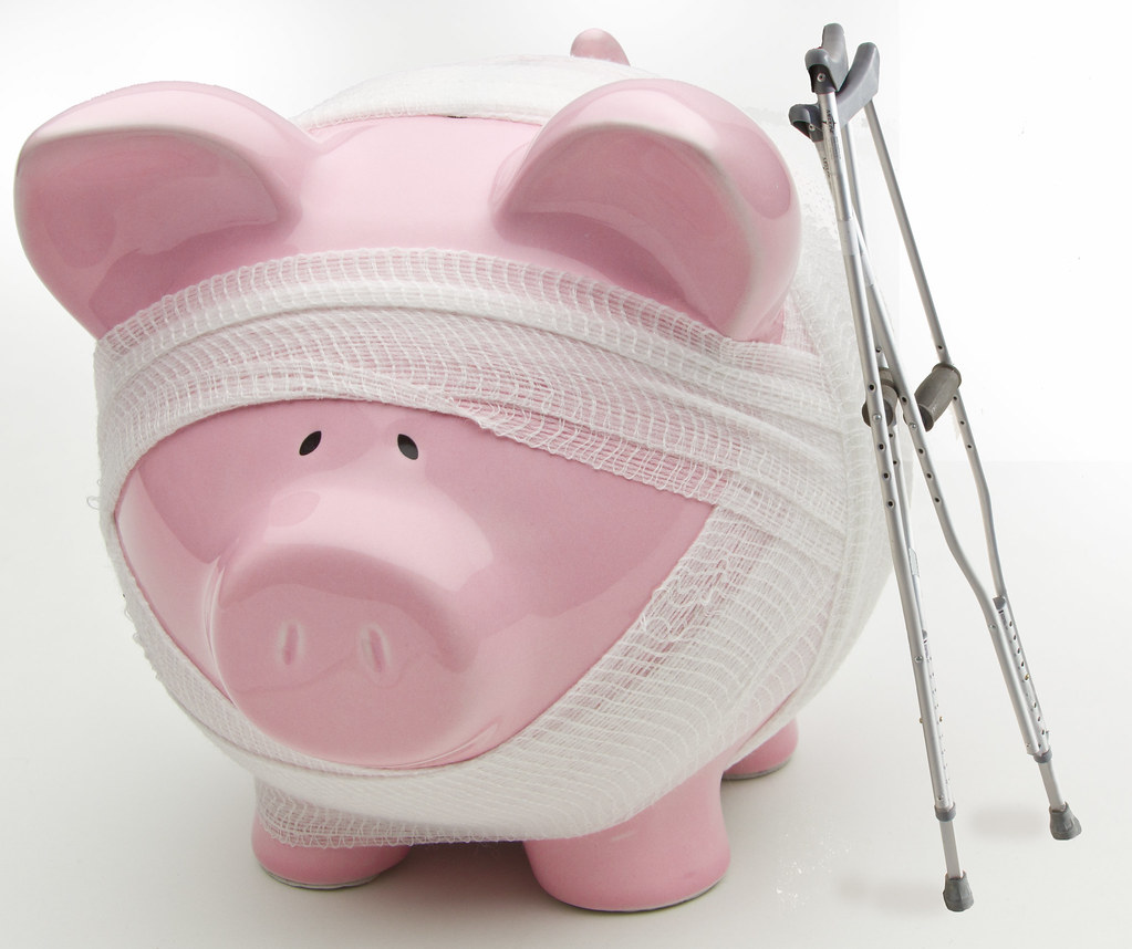 Injured Piggy Bank With Crutches | Feel free to use this ...
