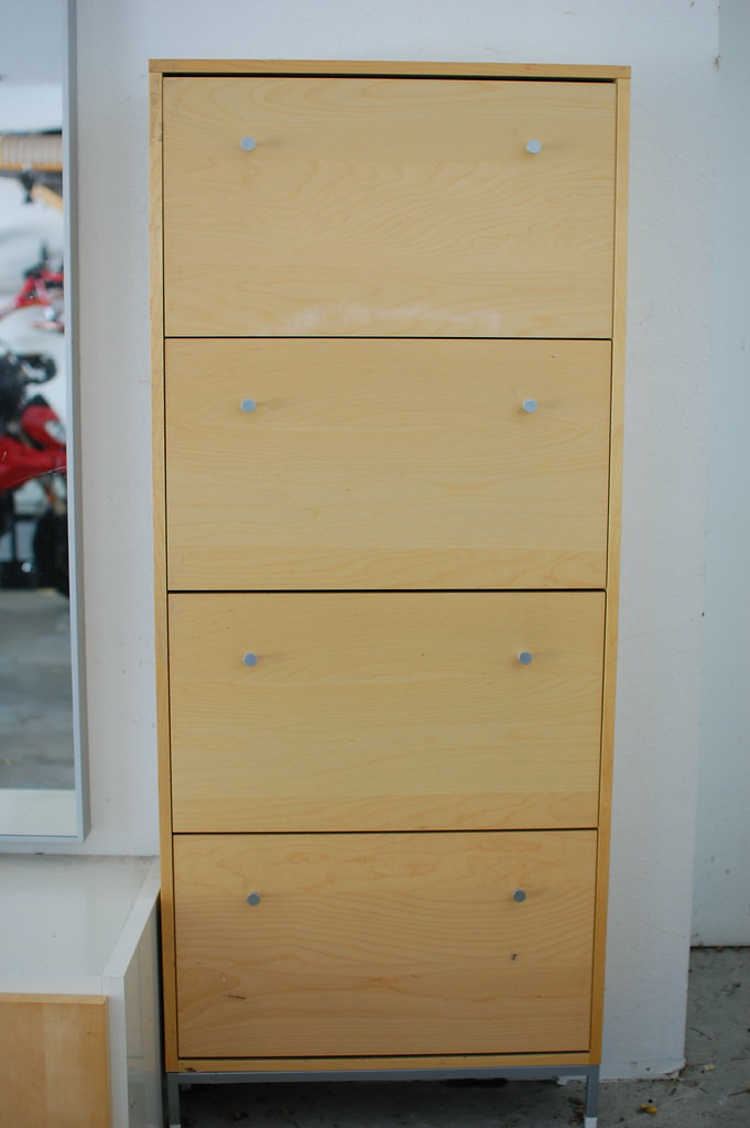 Ikea Sandnes Shoe Cabinet 4 Drawer Beech Veneer 75 Flickr