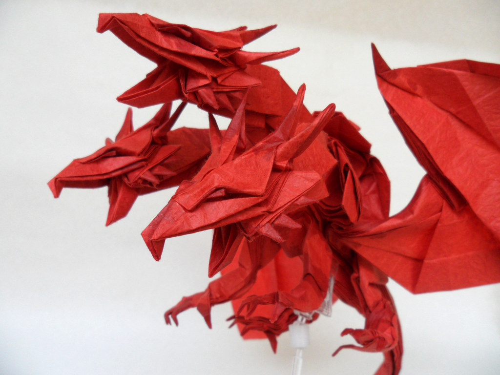 Origami Three Headed Dragon Diagram