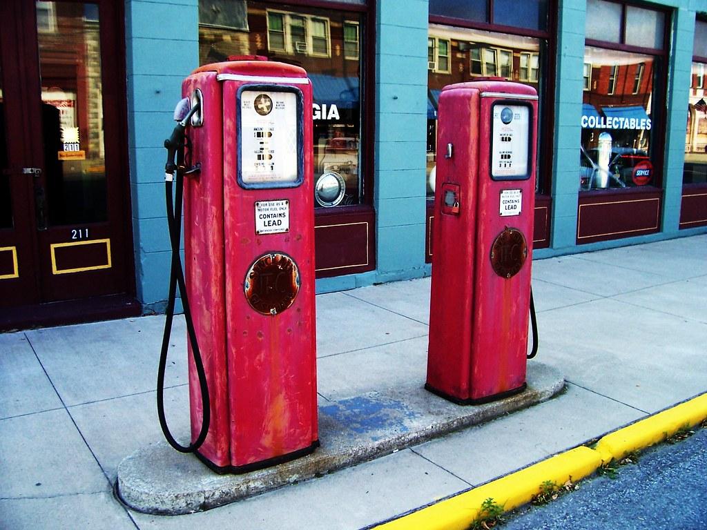 Pair of Vintage Gasoline Pumps | A set of vintage gas ...