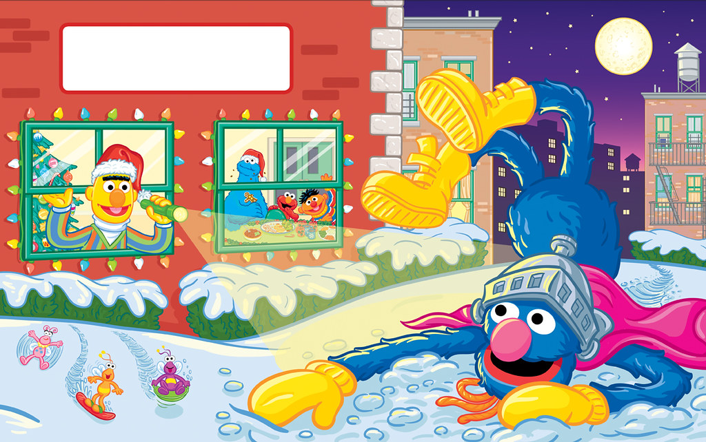 A Sesame Street Christmas Story Spread 6 This Is