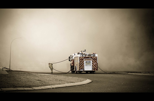 Fire fighters doing a great job! | by Marc Russo (Australia)