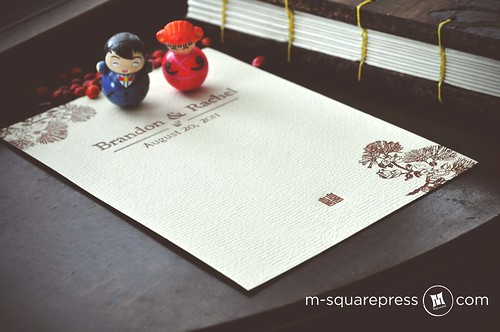 Personalized Wedding Card | by M-squarePress