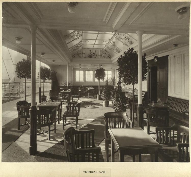 Verandah café Mauretania   Title: Verandah café Creator: B…   Flickr