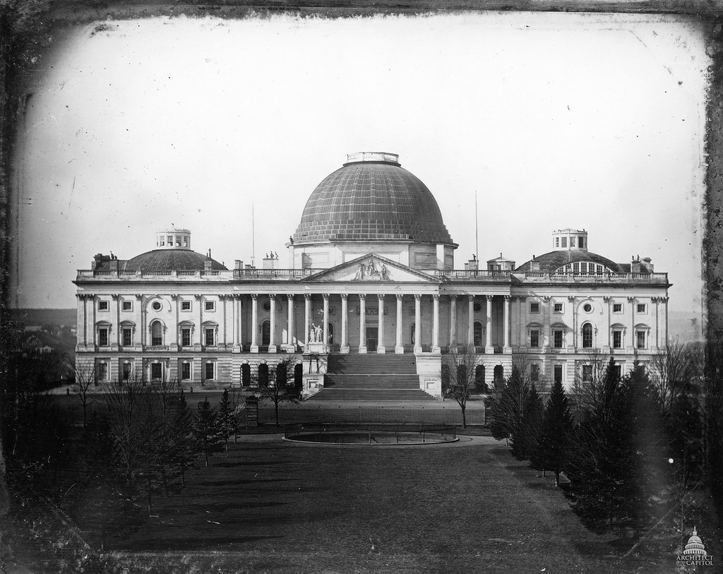 United States Capitol 1846 This 1846 Photograph By