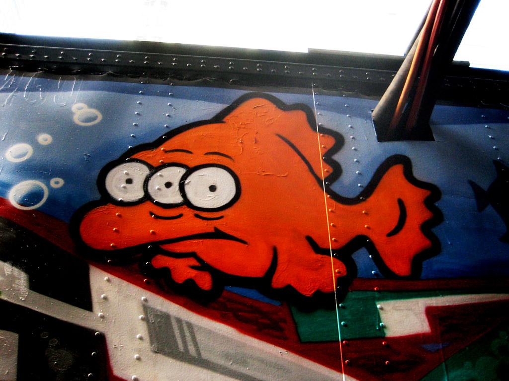 blinky three eyed mutant gold fish simpsons graffiti art 7 u2026 flickr