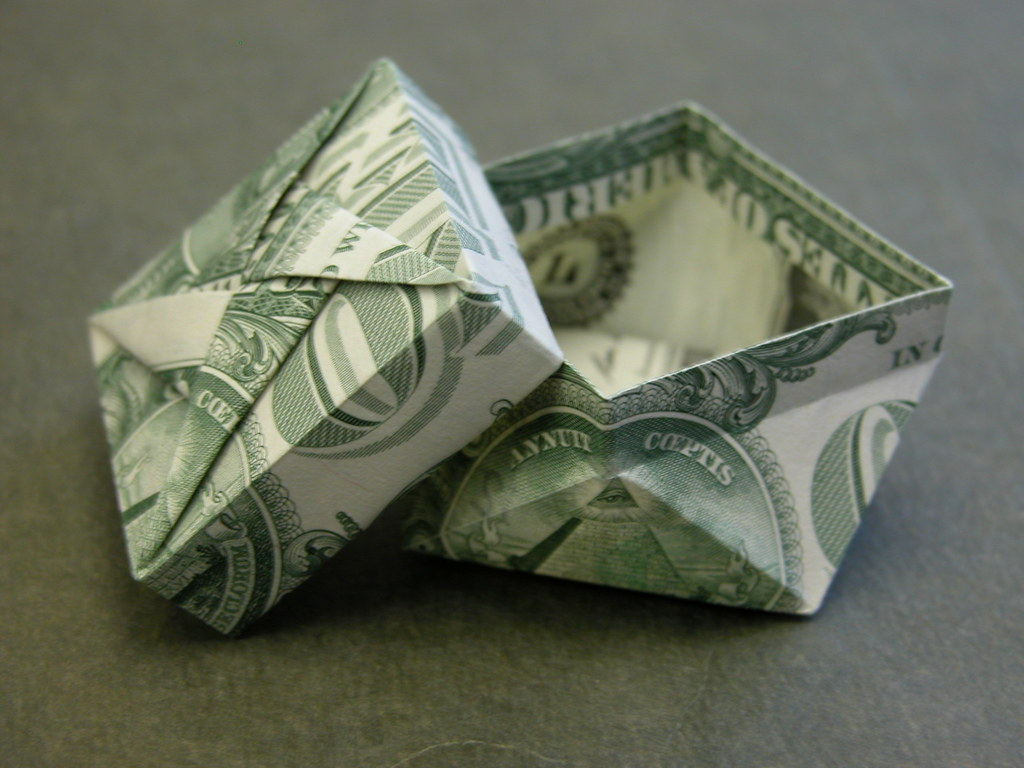 Dollar Bill Twist Box Design Tomoko Fuse Modified To Flickr By Fj Contreras