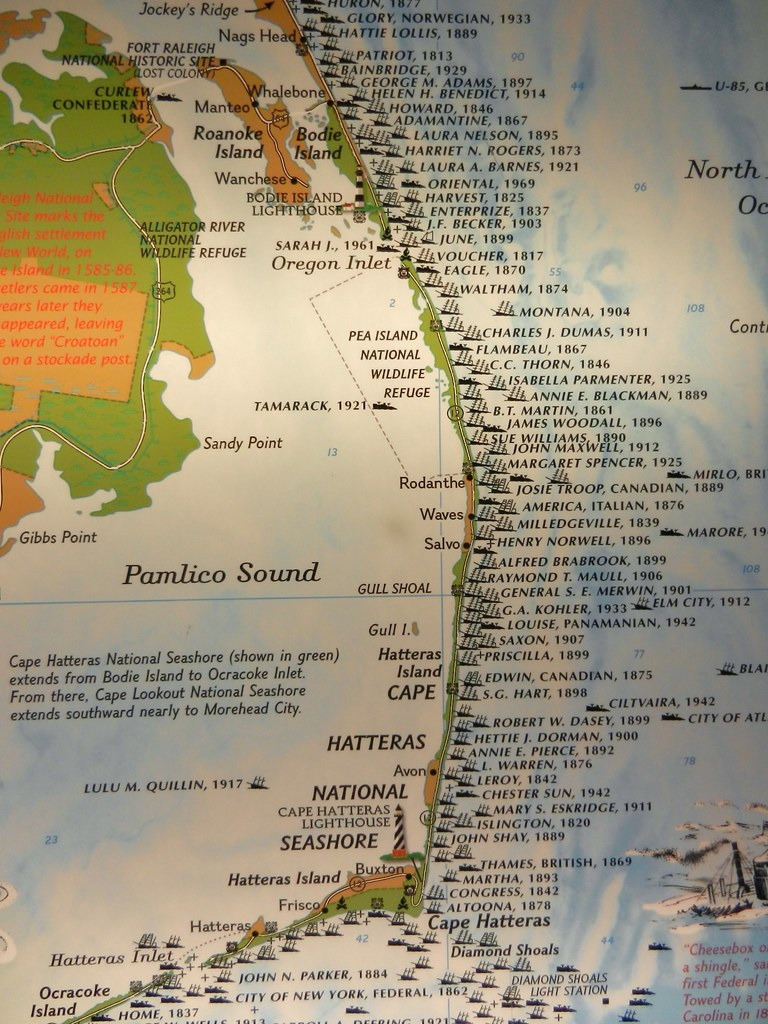 map outer banks with 6102376266 on Olympus Digital Camera 6 together with Product 15815 additionally Lake Huron Shi reck Poster as well Bermuda moreover Ruths Chris Steak House Virginia Beach.