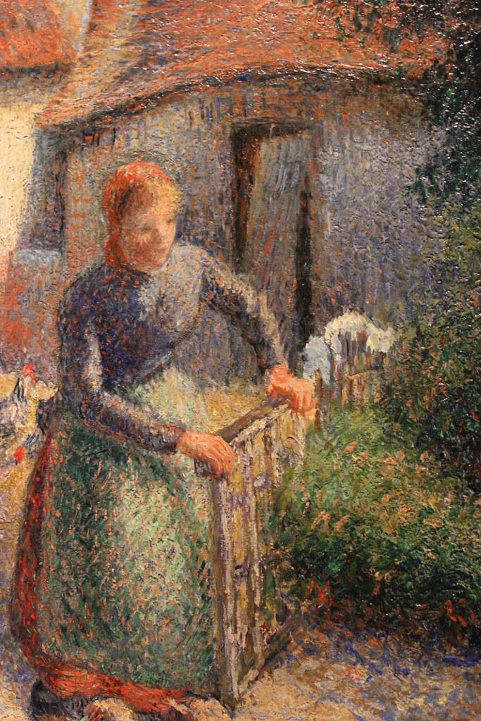 Shepherdess Bringing In Sheep Bergere Rentrant Des Mouton